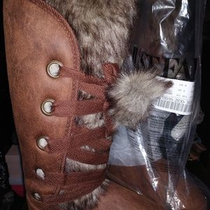 JustFab Shoes - Faux fur boots just fab